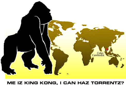 Logo from ThePirateBay for its King Kong Defense