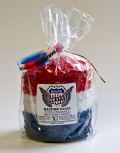 Red White Blue Peace Hearth Candle