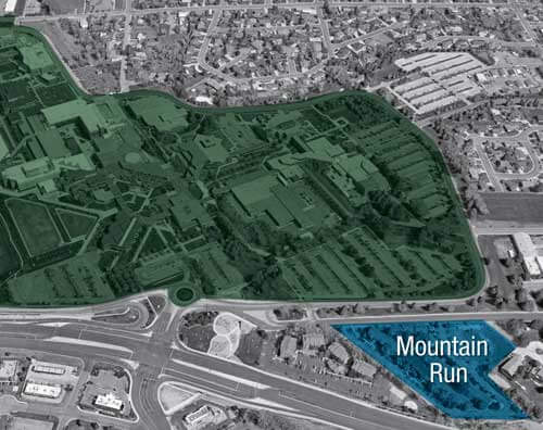 Arial view of Mountain Run Apartments in Orem, UT