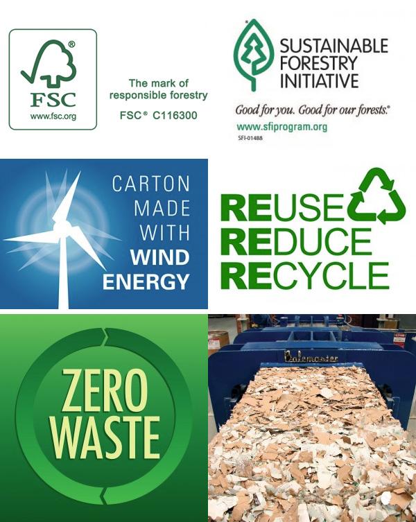 FSC, Logo, Icon, Forest, Stewardship, Council, Forest Stewardship Council, WPB, Warneke, Warneke Paper Box, Wind Energy, Reduce Reuse Recycle, Zero Waste, SFI