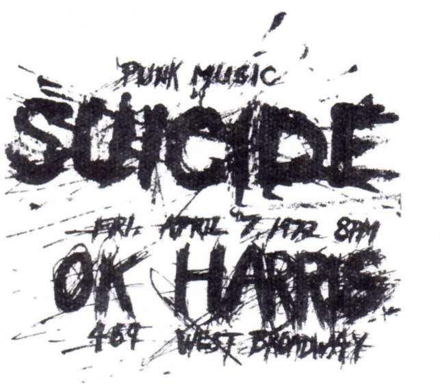 Suicide flyer, 1972.