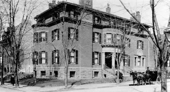 The house at 21st and Q streets, NW, circa 1900.