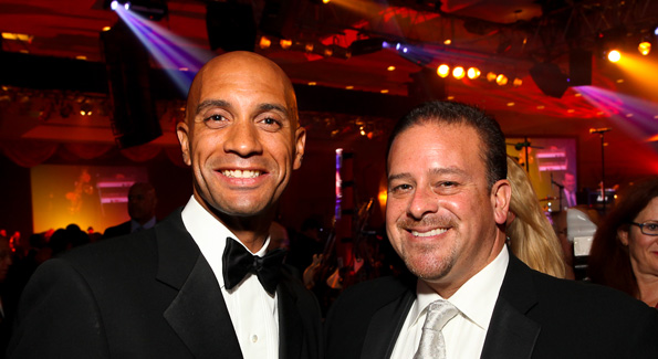 Mayor Adrian Fenty and Raul Fernandez. (Photo by Tony Powell)