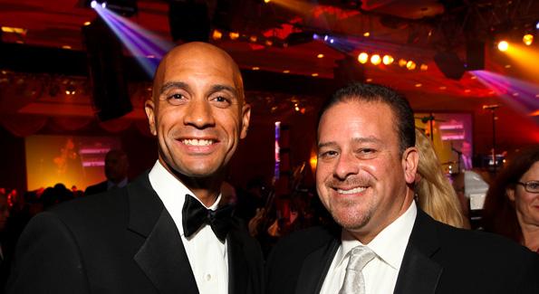Mayor Adrian Fenty and Raul Fernandez. (Photo by Tony Powell)