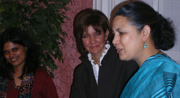 Capricia Marshall and Indian Ambassador Meera Shankar at Blair House