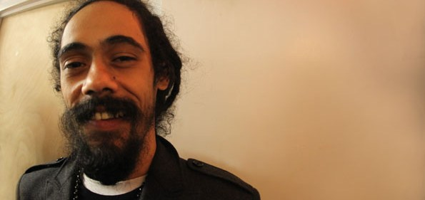 Damian Marley after the National Geographic Symposium