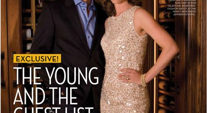 Andrew McKenna and Greta Brawner on the cover of the FEB10 THe Young and The Guest List issue of Washington Life Magazine. (Photo by Jodi King. Lana Orloff Style)