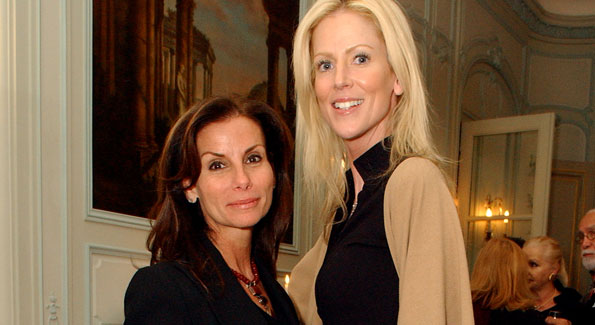 Co-potential DC Housewives Lynda Erkiletian and Michaele Salahi. (Photo by Tony Powell)