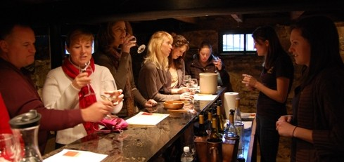 Nothing beats a wine tasting on a cold winter day. Photo by John Arundel