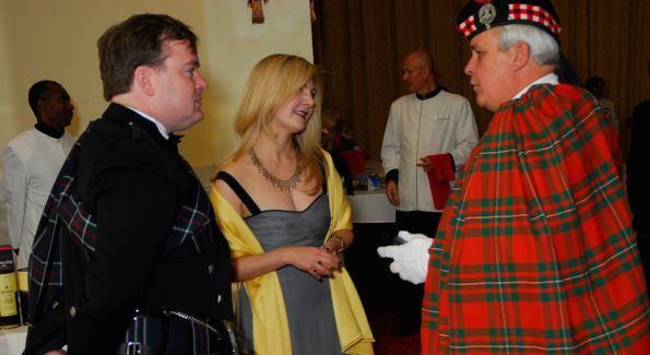 Guests enjoy an evening of fun and dancing at the Saint Andrew's Society of Washington 61st Annual Tartan Ball.  Photo courtesy of Kyle Samperton.
