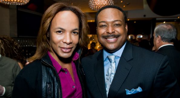 Bravo reality start Paul Wharton of The Real Housewives of D.C. and ABC 7 News Anchor Leon Harris