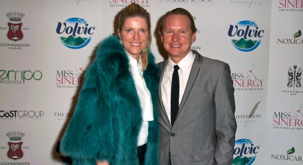 Bravo's Carson Kressley with former Marie Claire Fashion Director Lucy Sykes Rellie at the Beauty is Skin Deep Fashion Benefit. Photo by Tim Lundin, TDLphoto.com.