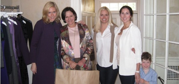 Karen Jeffords of Lyn Devon, Andrea Weisswasser, Sharon Bradley and Amy & Paul Baier. Photo courtesy of BrandLinkDC.