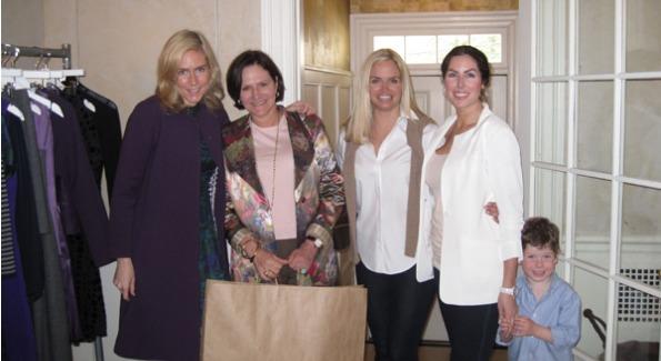 Karen Jeffords of Lyn Devon, Andrea Weisswasser, Sharon Bradley and Amy & Paul Baier. Photo courtesy of BrandLinkDC.