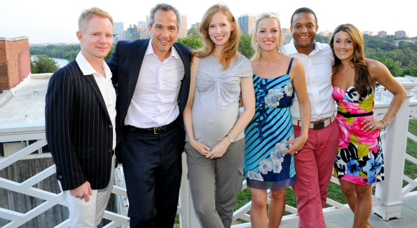 Gilt City president Nathan Richardson, Winston Lord, Juleanna Glover, Lindsay Czarniak, Craig Melvin and Gilt City DC Curator Marissa Schneider