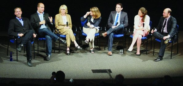 """""""Page One"""" stars discuss the film at the Newseum premiere."""