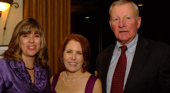 LCAC Board President Lynn Swogger, former LCAC Board member Barbara Rizer, Mike Ryan