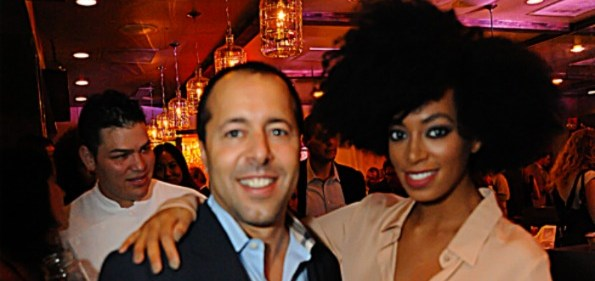 Alan Popovsky and Solange Knowles at Virgin Atlantic's Anniversary Celebration. Photo by Daniel Swartz.
