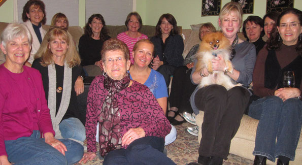 The wonderful women of the Dining for Women chapter in Fairfax Station, VA.