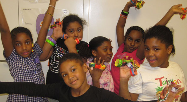 The girls from the Dunbar Alexandria-Olympic site of the Boys & Girls Clubs of Greater Washington rocked their handmade napkin rings.