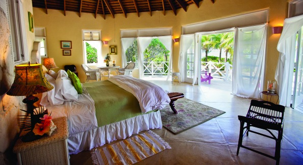 Inside Coco Plum, one of the resort's private one-bedroom cottages. (Photo by Anchyi Wei.) by