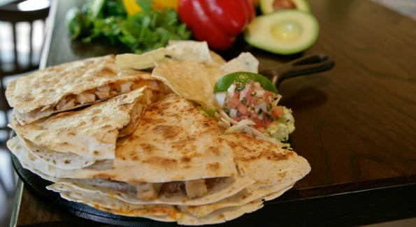 The South of the Border inspired restaurant offers several kinds of quesadillas, including this chicken and bean stuffed option.