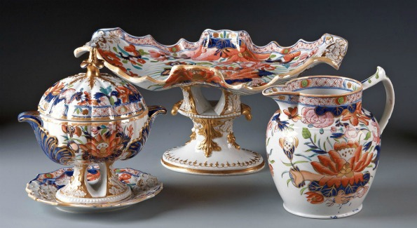 C.1820  English Ironstone China. Photo courtesy of the Washington Winter Show.
