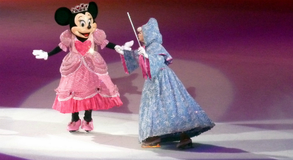Minnie Mouse and the Fairy Godmother. (Photo: Leigh Caldwell)