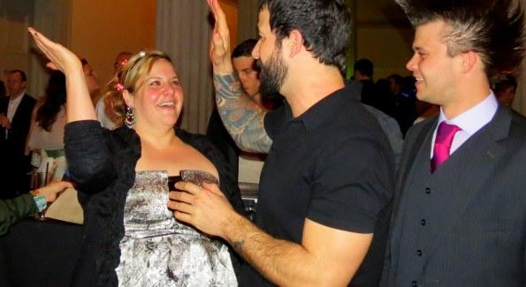 Mixologist Joe Ambrose of The W's POV Lounge celebrates his big 2012 win at ARTini. Photo by Fran Holuba.