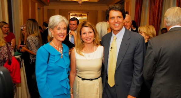 Kathleen Sibelius, XXXXXXX and Mark Shriver