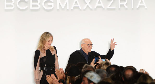 Lubov Azria and designer Max Azria walk the runway at the BCBGMAXAZRIA Spring 2013 fashion show during Mercedes-Benz Fashion Week (Photo by Frazer Harrison/Getty Images for Mercedes-Benz)