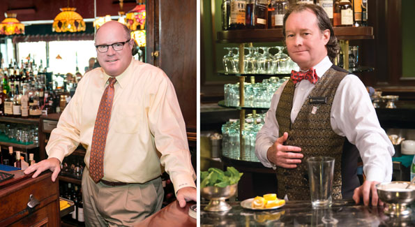Billy Martin (left) and Jim Hewes are just two of Washington's veteran bartenders.