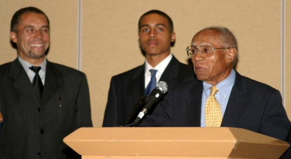 Dr. Thomas Hart is flanked by his son and grandson: Thomas Hart, Jr. Esq, Thomas Hart III.