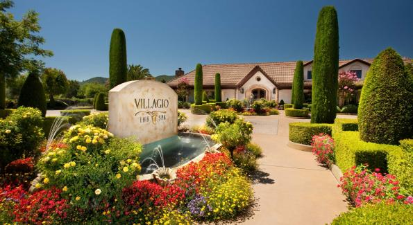 The Villagio Inn & Spa is a Tuscan-inspired hotel in the Napa Valley town of Yountville.