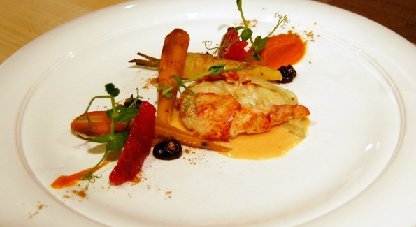 Hay-smoked lobster with coffee-braised carrots was a menu standout. Photo courtesy of Kelly Magyarics.