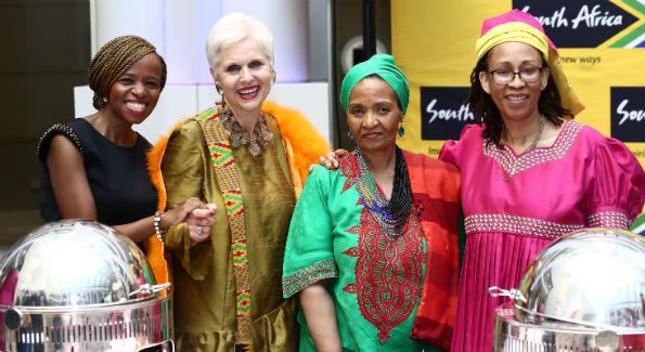 Nontando Ngidi Jan Du Plain Nowetu Luti Embassy of South Africa Chef Zondwa Sikakane (Photo by Tony Powell)