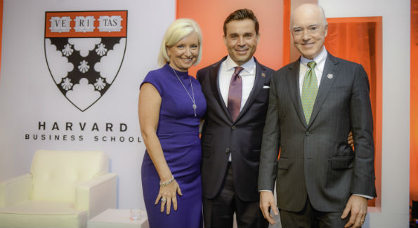 Carolyn Everson, Antonio Alves and David Bradley (Photo by Ben Droz)