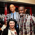 Deborah Morales, Kareem Abdul-Jabbar, Anthony Morrow. Photo by Tony Powell. Kareem Abdul-Jabbar Private Dinner. June 6, 2011