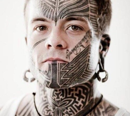 Amazing-Tribal-Tattoo-on-Face