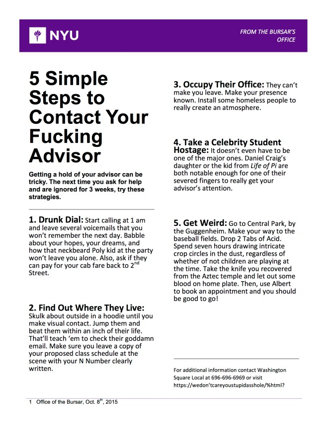 WSL contact your advisor