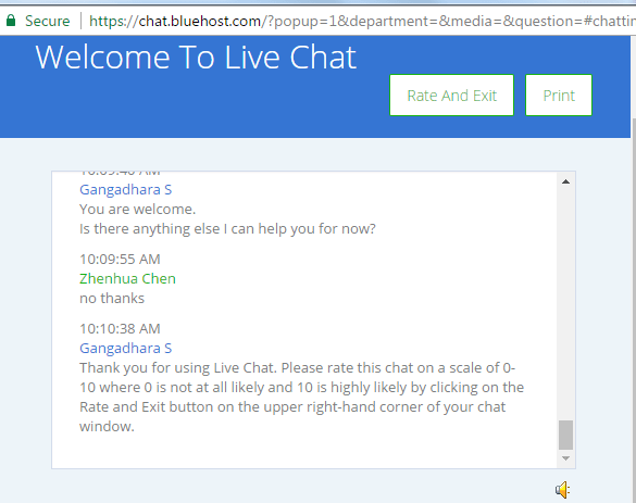Bluehost Live Chat 3