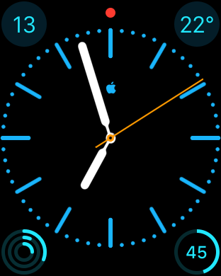 Watch Face: Farbe - Blau, Fabian Geissler, Hack4Life