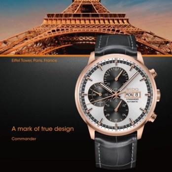 Commander Cronógrafo se inspira en la Torre Eiffel.