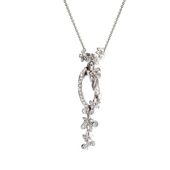 DA13453 020101 - Emperatriz Cascada medium necklace in white gold and diamonds