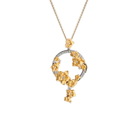 DA13654 030101 - Emperatriz maxi pendant in yellow and white gold with diamonds
