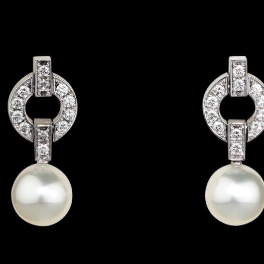 Aretes Pearl Jewelry de Cartier.