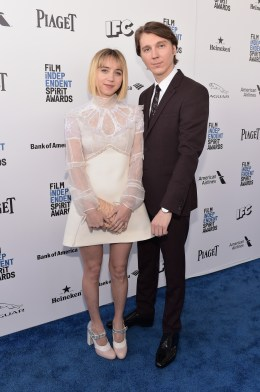 SANTA MONICA, CA - FEBRUARY 27: Actors Zoe Kazan (L) and Paul Dano attend the 2016 Film Independent Spirit Awards sponsored by Piaget on February 27, 2016 in Santa Monica, California. (Photo by Stefanie Keenan/Getty Images for Piaget) *** Local Caption *** Zoe Kazan;Paul Dano