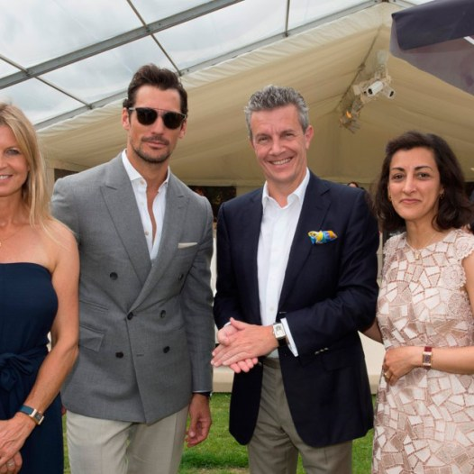 Polo-Ambassador-Clare-Milford-Haven,-David-Gandy,-Jaeger-LeCoultre-CEO-Daniel-Riedo-and--UK-Director-Zahra-Kassim-LakhaVanessa-Taylor-Photography