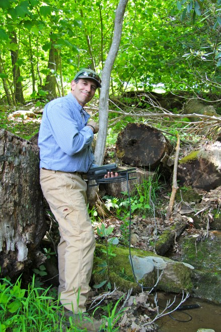 Stephen Schoenholtz sampling streams at Primland