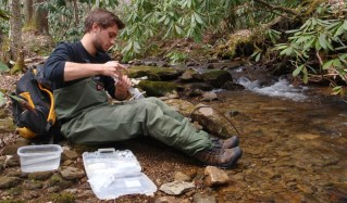 Kyle Dost is a Virginia Tech undergraduate student working on stream assessments in the Schoenholtz Lab
